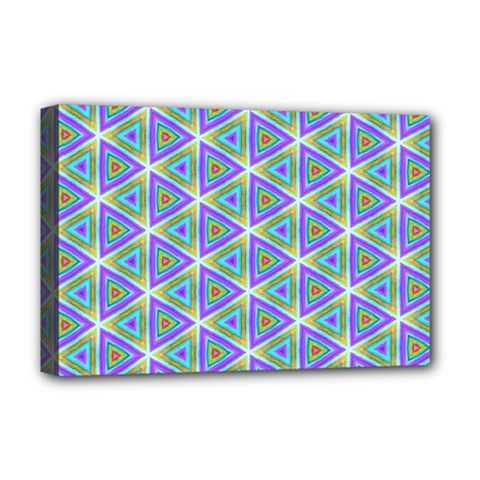 Colorful Retro Geometric Pattern Deluxe Canvas 18  X 12