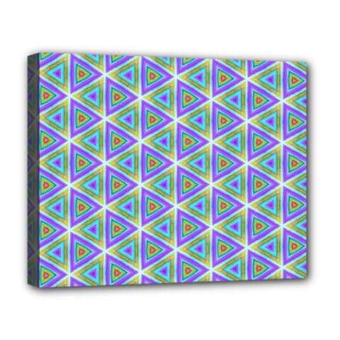 Colorful Retro Geometric Pattern Deluxe Canvas 20  X 16