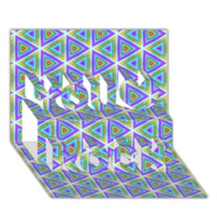 Colorful Retro Geometric Pattern You Rock 3d Greeting Card (7x5)