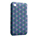 Colorful Retro Geometric Pattern Apple iPhone 3G/3GS Hardshell Case (PC+Silicone) View2