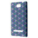 Colorful Retro Geometric Pattern HTC 8S Hardshell Case View3
