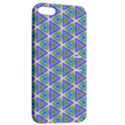 Colorful Retro Geometric Pattern Apple iPhone 5 Hardshell Case with Stand View2