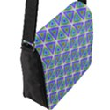 Colorful Retro Geometric Pattern Flap Messenger Bag (L)  View2