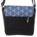 Colorful Retro Geometric Pattern Flap Messenger Bag (S) View1