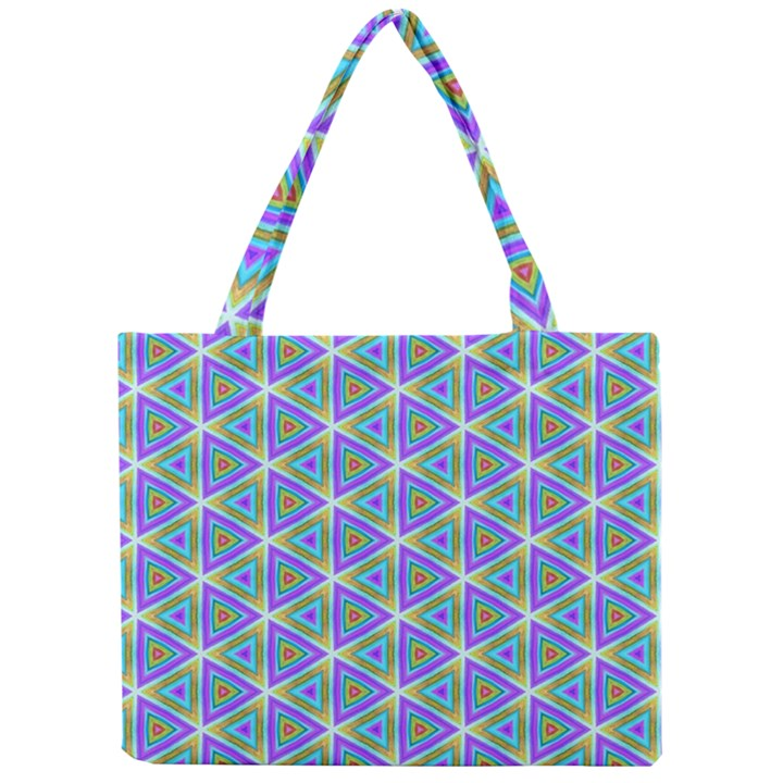 Colorful Retro Geometric Pattern Mini Tote Bag