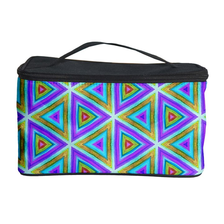 Colorful Retro Geometric Pattern Cosmetic Storage Case