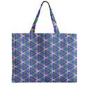 Colorful Retro Geometric Pattern Zipper Mini Tote Bag View2