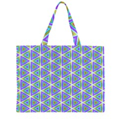 Colorful Retro Geometric Pattern Large Tote Bag