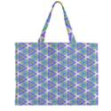 Colorful Retro Geometric Pattern Large Tote Bag View2