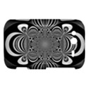 Black And White Ornamental Flower HTC Wildfire S A510e Hardshell Case View1