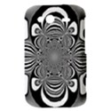 Black And White Ornamental Flower HTC Wildfire S A510e Hardshell Case View3