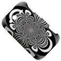 Black And White Ornamental Flower HTC Wildfire S A510e Hardshell Case View5