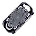 Black And White Ornamental Flower Samsung Galaxy S III Hardshell Case (PC+Silicone) View4