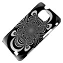 Black And White Ornamental Flower Samsung Galaxy S II i9100 Hardshell Case (PC+Silicone) View4