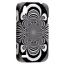 Black And White Ornamental Flower HTC Desire V (T328W) Hardshell Case View2