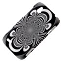 Black And White Ornamental Flower HTC Desire V (T328W) Hardshell Case View4