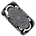 Black And White Ornamental Flower HTC Desire V (T328W) Hardshell Case View5