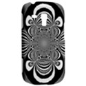 Black And White Ornamental Flower Samsung Galaxy S3 MINI I8190 Hardshell Case View2