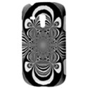 Black And White Ornamental Flower Samsung Galaxy S3 MINI I8190 Hardshell Case View3