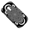 Black And White Ornamental Flower Samsung Galaxy S3 MINI I8190 Hardshell Case View5
