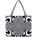 Black And White Ornamental Flower Mini Tote Bag View1