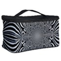 Black And White Ornamental Flower Cosmetic Storage Case View2