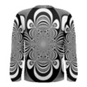 Black And White Ornamental Flower Men s Long Sleeve Tee View2