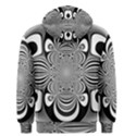 Black And White Ornamental Flower Men s Pullover Hoodie View2