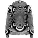 Black And White Ornamental Flower Women s Pullover Hoodie View2