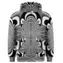 Black And White Ornamental Flower Men s Zipper Hoodie View1