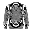 Black And White Ornamental Flower Men s Sweatshirt View2