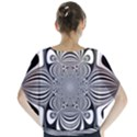 Black And White Ornamental Flower Blouse View2