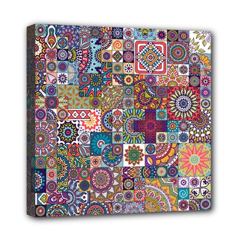 Ornamental Mosaic Background Mini Canvas 8  x 8