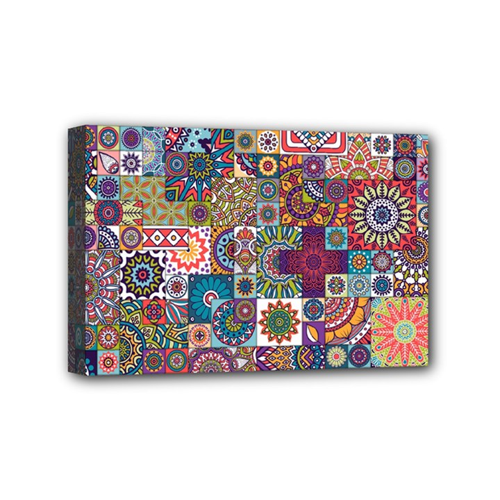 Ornamental Mosaic Background Mini Canvas 6  x 4