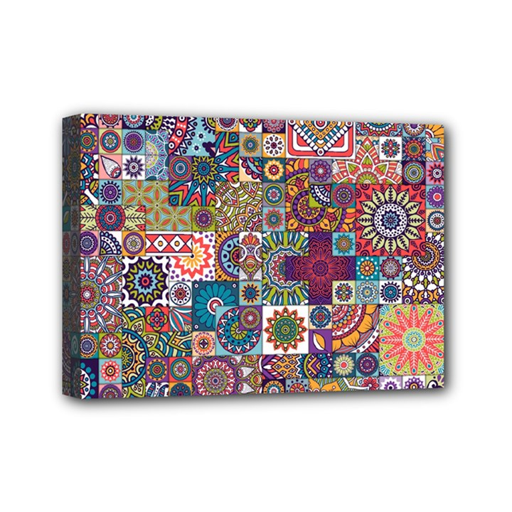 Ornamental Mosaic Background Mini Canvas 7  x 5
