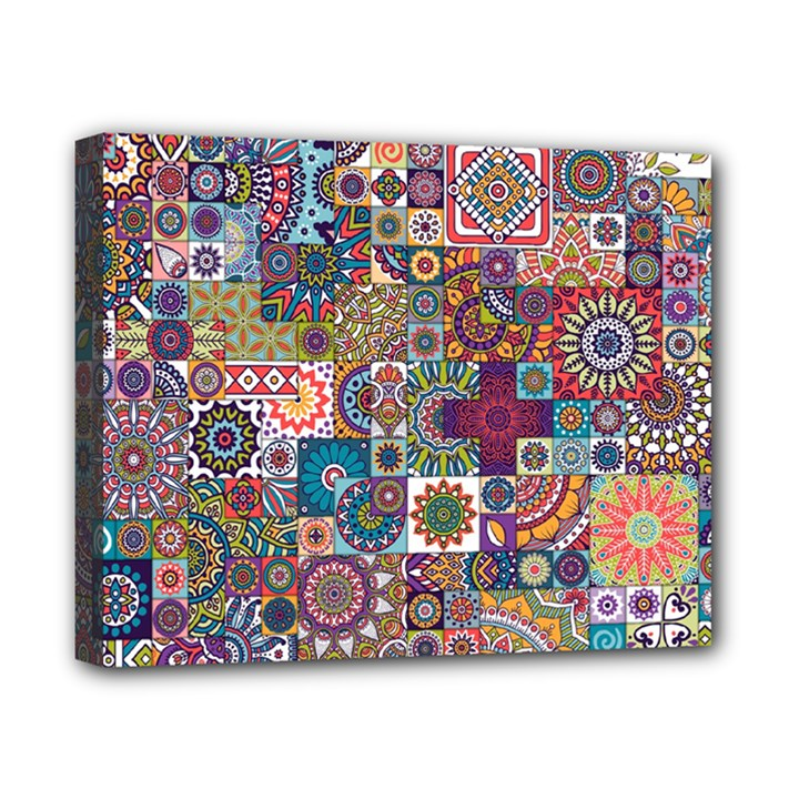 Ornamental Mosaic Background Canvas 10  x 8