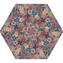 Ornamental Mosaic Background Mini Folding Umbrellas View1