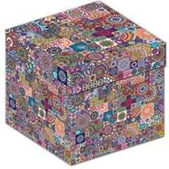 Ornamental Mosaic Background Storage Stool 12