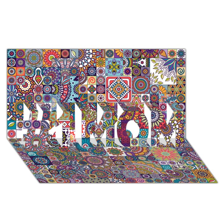 Ornamental Mosaic Background #1 MOM 3D Greeting Cards (8x4)