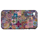 Ornamental Mosaic Background Apple iPhone 4/4S Hardshell Case (PC+Silicone) View1