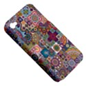 Ornamental Mosaic Background Apple iPhone 4/4S Hardshell Case (PC+Silicone) View5