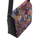 Ornamental Mosaic Background Flap Messenger Bag (L)  View2