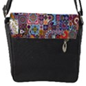Ornamental Mosaic Background Flap Messenger Bag (S) View1