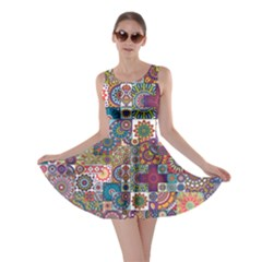Ornamental Mosaic Background Skater Dress