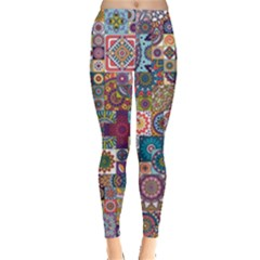 Ornamental Mosaic Background Leggings