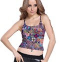 Ornamental Mosaic Background Spaghetti Strap Bra Top View1