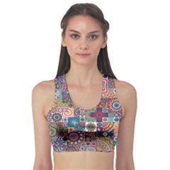 Ornamental Mosaic Background Sports Bra