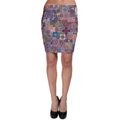 Ornamental Mosaic Background Bodycon Skirt