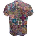 Ornamental Mosaic Background Men s Cotton Tee View2