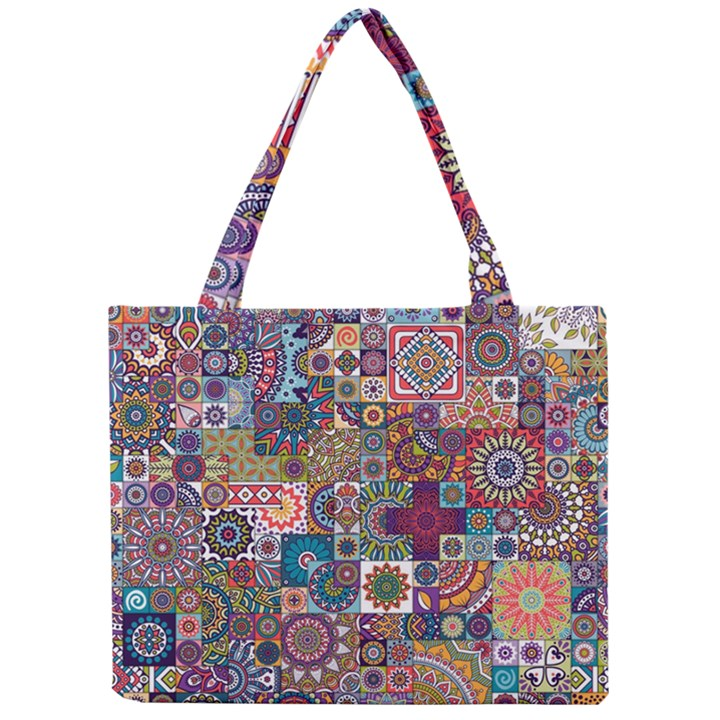 Ornamental Mosaic Background Mini Tote Bag